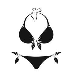 Bikini icon in black style isolated on white vector