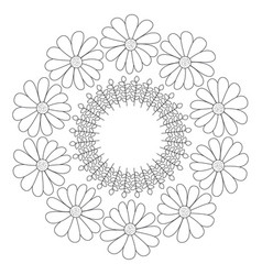 circular crown with flowers vector image vector image