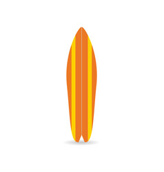 classic surfboard colorful fish board with shadow vector image vector image