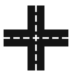Crossing road icon simple style vector image