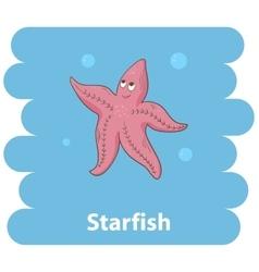 Cut cartoon Starfish vector image vector image