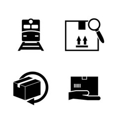 delivery order simple related icons vector image vector image
