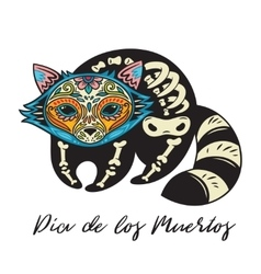 Dia De Los Muertos Greeting card with sugar skull vector image vector image
