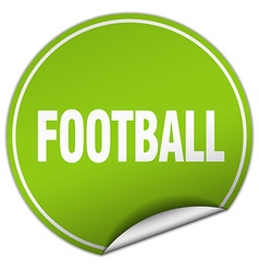 football round green sticker isolated on white vector image vector image