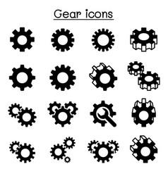 gear repair fixing icon set vector image vector image