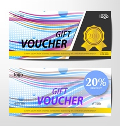Gift voucher template sporty and colorful style de vector