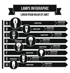 Lamps infographic concept simple style vector