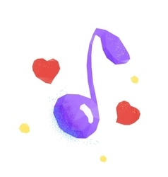 Love music polygonal icon vector image