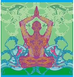 men in meditation vector image vector image