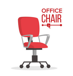 office chair business manager empty seat vector image