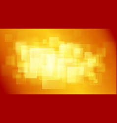 Orange abstract background of blurry squares vector