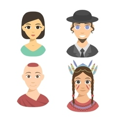 People nationality race vector image vector image