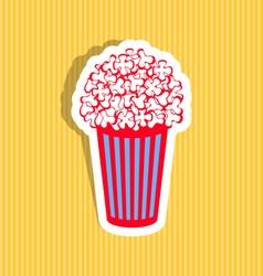 Popcorn icon vector image vector image