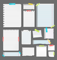realistic paper set vector image vector image