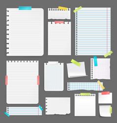 Realistic paper set vector