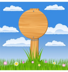 round wooden board vector image vector image