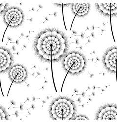 seamless background with dandelion vector image vector image