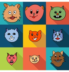 Set of cats icons vector image