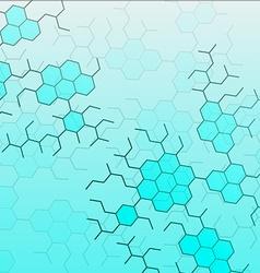Set of digital backgrounds for dna molecule vector image