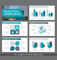 Set of turquoise and gray elements for vector