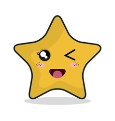 star character face icon vector image