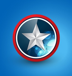 star shield vector image