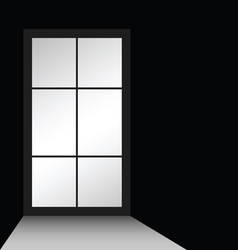 window on black vector image vector image