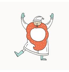 Dancing santa claus vector