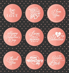 Happy valentines day typography elements vector