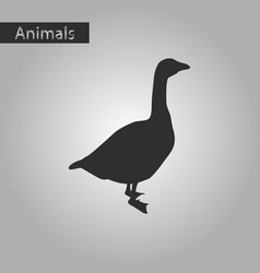 black and white style icon of goose vector image