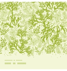 Green underwater seaweed horizontal seamless vector