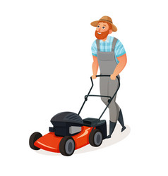 Grass cutting icon vector