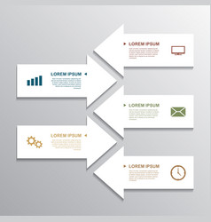 Paper arrow infographic vector