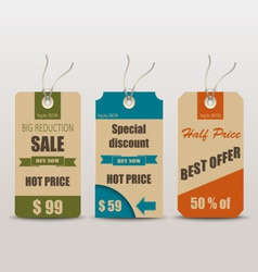 Old retro vintage tag for sale vector