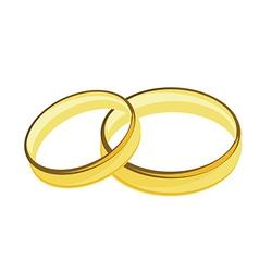 Weddings rings golden vector image