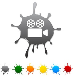 Cinema blot vector