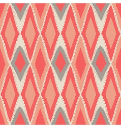 Abstract tribal art ethnic seamless ikat pattern vector