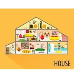 House cartoon interior vector