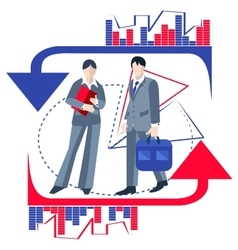 Business people isolated infographics arrows vector