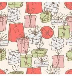 Pattern of gift boxes vector