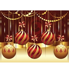 Decorative gold xmas balls3 vector