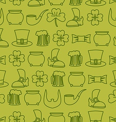 Patricks day seamless background pattern of an old vector