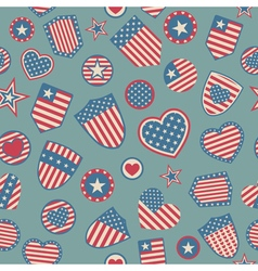 Seamless pattern of usa symbols vector