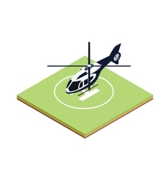 Isometric boarding helicopter vector