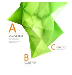 Abstract 3d green triangle backgrond vector