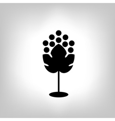 Black silhouette of grape vector image