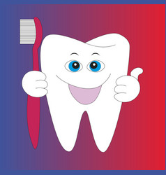 cartoon root human tooth vector image vector image