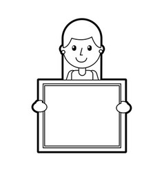 Character teacher holding board class element vector