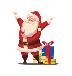 christmas santa claus with arms wide ope vector image