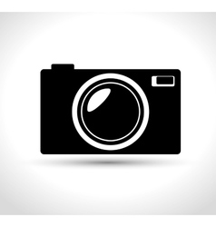 compact photo camera black design graphic vector image